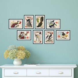 Hot Sale Vivid Birds 3D Wall Art Prints for Room Decoration