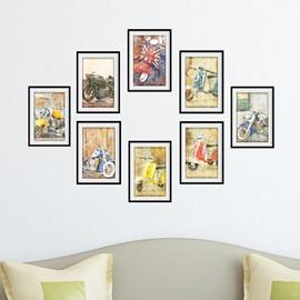 Hot Sale Creative Motorcycle Pattern Wall Art Prints