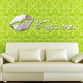 Hot Sale Modern KISS ME Decorative Wall Stickers
