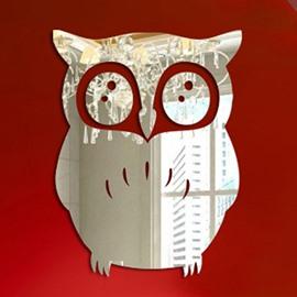 Unique Design Acrylic Owl Print Decorative Wall Stickers