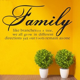 Simple Family Letter Pattern Wall Sticker