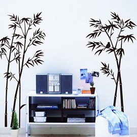 Simple Style Black Bamboo Pattern Home Decoration Wall Sticker