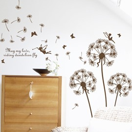 Simple Dandelion and Angel Wall Sticker