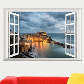 New Arrival 3D City Night Scenery Wall Sticker