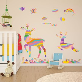 Hot Sale Colorful Deer Wall Stickers for Home Decoration