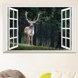 Deer and Forest Scenery Wall Stickers for Home Decoration