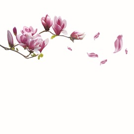 Simple Pink Flowers Wall Stickers for Home Decoration