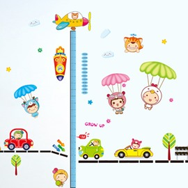 Cute Parachute Kids Height Measurement Kids Wall Sticker