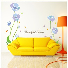 Simple Flowers Pattern Home Decorative Removable Wall Stickers