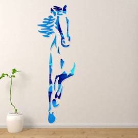 Amazing Acrylic Cool Horse Shape Mirror Home Decorative Wall Stickers
