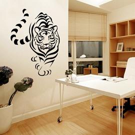 Black Vivid Tiger Pattern Design Decorative Wall Stickers