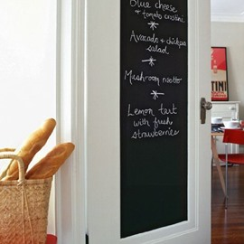 17×78in Solid Black Self-Adhesive PVC Waterproof Blackboard Wall Stickers