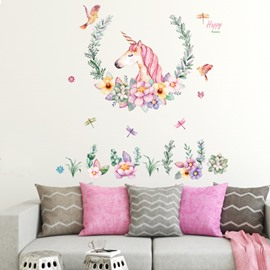 Unicorn Wall Decals Girls Bedroom Wall Stickers Room Wall Decor