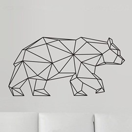 Geometric Bear Wall Sticker Modern Home Decor Vinyl Wall Art