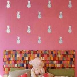 Colorful Pineapple Bronzing Wall Art Fashion Wall Decal Sticker