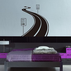 A Highway Long Journey Giant Wall Sticker