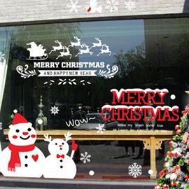 Merry Christmas Snowman Cute Wall Sticker