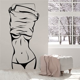 Sexy Girl Bathroom Bedroom Art Decor Special Design Wall Sticker