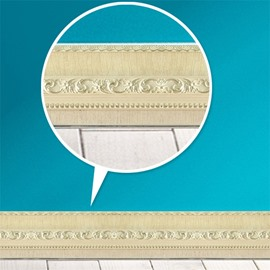 3D Beige Pattern PVC Waterproof Eco-friendly Self-Adhesive Wall Stickers