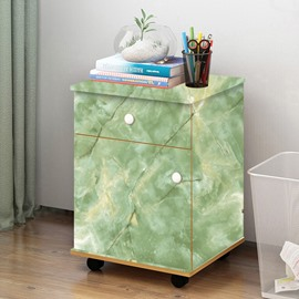 Green Faux Marble Wallpaper PVC Waterproof Self-Adhesive Cupboard Sticker