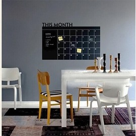 Creative Blackboard Calendar Removable Chalkboard Home Decorative Wall Sticker