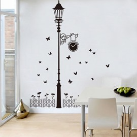 Creative Street Lamp Pattern Bedroom Corridor Waterproof Wall Sticker