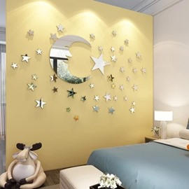 DIY Star And Moon Pattern Home Decor Arcylic Material Waterproof Wall Sticker