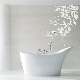 3D Mirror Flower Pattern Acrylic Home Decor Waterproof Wall Sticker