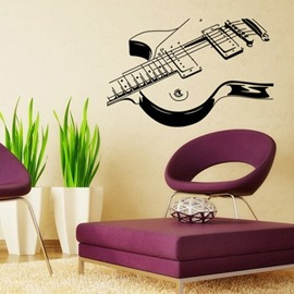 DIY Guitar Pattern Simple Style Waterproof Wall Sticker