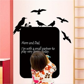 Blake Birds Pattern Creative Message Board Decorative Wall Sticker