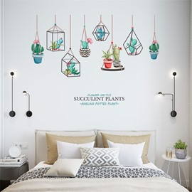 Multiple Cactus Pattern PVC Waterproof Home Decor Living Room Kids Room Wall Sticker