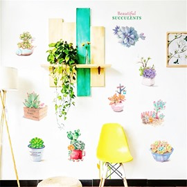 DIY Cactus Pattern PVC Waterproof Home Decor Living Room Kitchen Wall Sticker