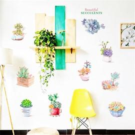 DIY Cactus Pattern PVC Waterproof Home Decor Living Room Kitchen Wall Sticker