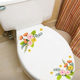 Cute Small Flower Pattern Waterproof PVC Fridge Magnet Toilet Patch Window/Wall Stickers