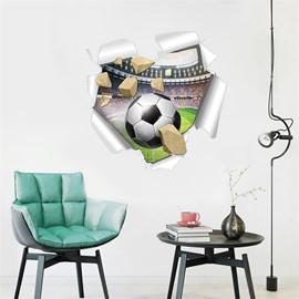 PVC Waterproof Creative Football Pattern Home Decor Wall Sticker