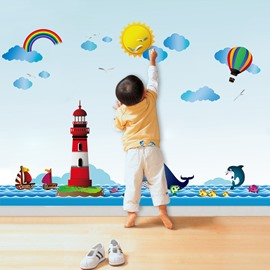 Waterproof PVC Removable Cartoon Balloon Pattern Home Decor Wall Sticker