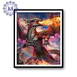 Waterproof PVC Delicate DIY Dragon Pattern Home Decor Wall Print