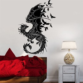 Waterproof Dragon Pattern PVC Removable Home Decor Wall Sticker