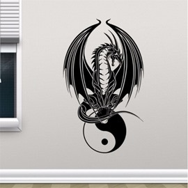 Waterproof PVC Removable Dragon Pattern Home Decor Wall Sticker