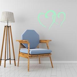 Removable Cute Cartoon Heart Pattern Green Fluorescent Night Luminous Wall Sticker