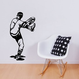 Removable Baseball Batter Wall Stickers for Home Decor