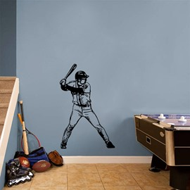 Removable Baseball Right Handed Batter Wall Stickers