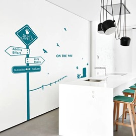 Removable Personality Road Sign Pattern Wall Stickers