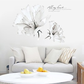 Waterproof Big Flower Pattern Corridor Bedding Room Home Decor Wall Sticker