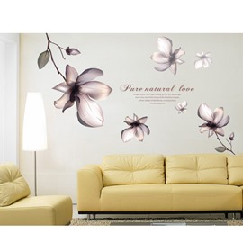 Self-Adhesive Flower Pattern Wall Stickers for Living Room Bedroom