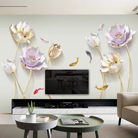 Waterproof Flower Pattern TV Wall Corridor Home Decor Waterproof Wall Sticker