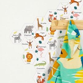 Animals Cartoon 10pcs Eco-friendly PVC Waterproof Wall / Floor Stickers