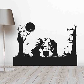 Pharmaceutical Witches Helloween Theme Wall Stickers / Wall Decorations