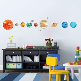 Nine Planets Noctilucent Wall Stickers Children's Room Creative Decoration