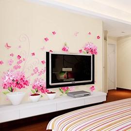 Hydrangea Flowers PVC Wall Sticker Bedroom Living Room Background Home Decor